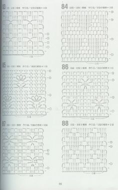 Crochet facile tricot et ideas for 2019 Filet Crochet, Crochet Stitches Chart, Crochet Motifs, Crochet Diagram, Crochet Squares, Crochet Granny, Crochet Baby, Granny Squares, Stitch Patterns
