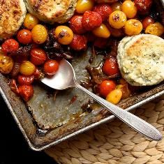 Tomato Cobbler With Blue Cheese Biscuits (via www.foodily.com/r ...