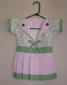 two of my favorite things ~ a clothespin dress bag like my MawMaw made and in pink and green!  {love it}