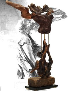 Winged Victory of Samothrace,large driftwood sculpture. Recycled wood  sculpture. by driftwoodartwork on Etsy