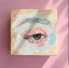 Acrylic Painting Fabric Medium For Acrylic Paint Acrylic Resin Paint A – thepaintart Small Canvas Art, Mini Canvas Art, Aesthetic Painting, Aesthetic Art, Pretty Art, Cute Art, Wow Art, Mini Paintings, Acrylic Art
