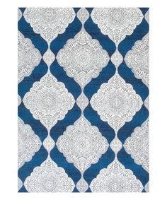 Another great find on #zulily! Blue Geometric Merideth Rug #zulilyfinds