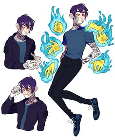 Jacob the Dream Demon. Comes from the monster world and came to the human world for a change of pace.