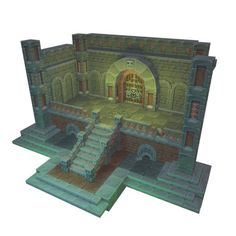 Low Poly Pixel Dungeon Set Source by goryken Game Environment, Environment Concept Art, Environment Design, 3d Pixel, Pixel Art, Prop Design, Game Design, Roguelike Rpg, Shiva Art