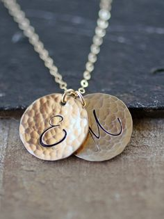Gold Initial Necklace Personalized Custom Letters by LRoseDesigns, $56.00