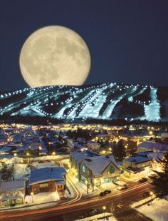 Moon at St. Sauveur, Quebec