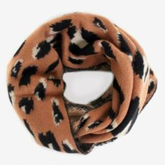 Graphic Leopard Infinity Scarf <3 $36 www.mooreaseal.com