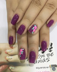 Uñas Diy Nails, Cute Nails, Pretty Nails, Fingernail Designs, Nail Art Designs, Uñas Diy, Manicure E Pedicure, Beautiful Nail Designs, Purple Nails