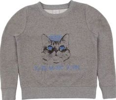 Little Karl Marc John Cat fleece sweatshirt Heather grey `12 years Fabrics : Cotton flannel mottled jersey Details : Cat Print, Straight cut, Round neckline, Long sleeves Composition : 60% Cotton Composition : 20% Polyester Composition : 20% metallic threads http://www.comparestoreprices.co.uk/january-2017-7/little-karl-marc-john-cat-fleece-sweatshirt-heather-grey-12-years.asp