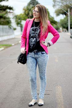 blazer rosa - Pesquisa Google Blazer Shirt, Bomber Jacket, Jackets, Shirts, Fall, Winter, Fashion, Down Jackets, Autumn