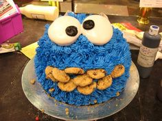 Cookie Monster Cake by Rora Does Cake, via Flickr