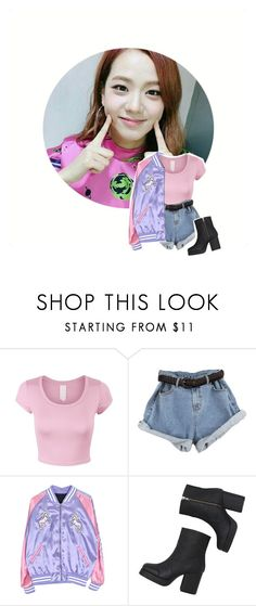 """""""Ji Hye // Audition for Starship Ent."""" by aesthetic-kpop ❤ liked on Polyvore featuring Monki"""