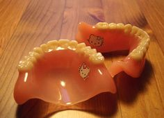 Hello Kitty Dentures are bizarre. Just when you think you've seen everything.