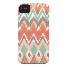 Tribal aztec chevron zig zag stripes chic pattern iphone 4 cases