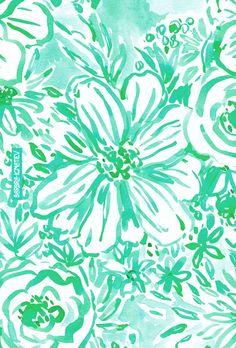 AQUA BIG SUNSHINE Barbarian print #floral #aqua #print