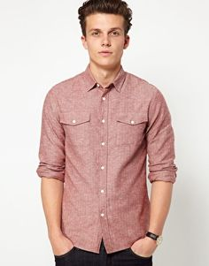 ASOS Shirt In Herringbone