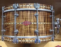 Craviotto Private Reserve 6.5x14 curly maple snare drum