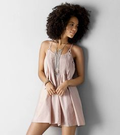 Blush AEO Pintucked Shift Dress
