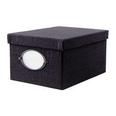 KVARNVIK  Box mit Deckel, dunkelblau  8,50