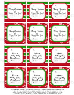 Stripes and Snowflakes!  Too Cute!  DIY Printables for your Christmas gifts!  Print as many times as needed! Christmas Printable DIY Gift Tags Stickers by sunshinetulipdesign, $6.00