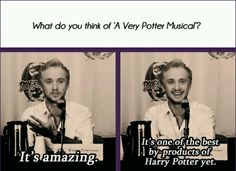 Tom Felton is a starkid! <<< don't know if this is real but I hope he is a starkid (just like John Green :) ) Harry Potter Universal, Harry Potter Fandom, Harry Potter Memes, A Very Potter Sequel, Very Potter Musical, Lauren Lopez, Avpm, Team Starkid, Yer A Wizard Harry