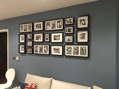 Fotowand Ikea Photo Wall Ikea Ribba Frames … In 2019 Gallery Wall Photo Frame Layout, Gallery Wall Layout, Gallery Wall Frames, Frame Wall Collage, Frames On Wall, Ribba Frame, Ikea Photo Frames, Photowall Ideas, Apartment Decoration