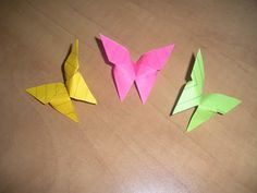 Origami with Post-It Notes