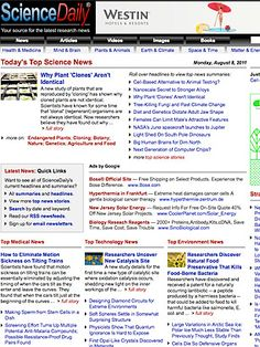 ScienceDaily on TIME's list of Best Websites. Explore it and more must-see sites on TIME.com.