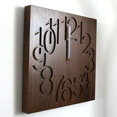 interesting wood clock | Are digging into the crisp and with the router machine is fun but ...