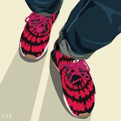 Nice Kicks x Adidas NMD Runner PK sneakerart por @ ctsbycontents