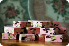 Cranberry and Nut Nougat Slices