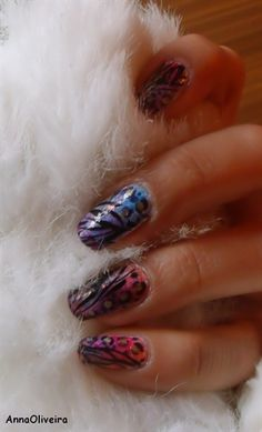 ColorFul Abstract Nail Art - Nail Art Gallery by NAILS Magazine