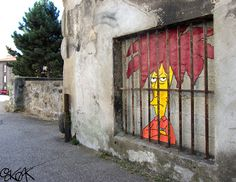 #TelespallaBob #Simpson murales created by #OakOak