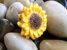 SUNFLOWER Dreadlock Bead Flower Dread Bead by BeBohemianPeach