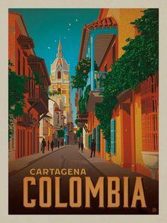 Vintage Travel Anderson Design Group – World Travel – Colombia: Cartagena - Vintage Travel Posters, Vintage Postcards, Vintage Airline, Foto Poster, Gig Poster, Tourism Poster, Photo Vintage, Retro Vintage, Photo Images