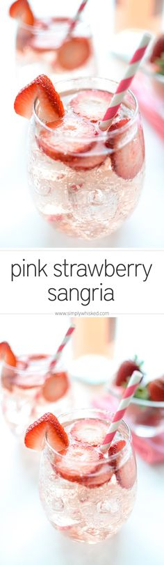 Pink Strawberry Sangria summer cocktails Woodland Wedding I… – Woodland Wedding Ideas Trend 2019 Party Drinks, Fun Drinks, Healthy Drinks, Alcoholic Drinks, Beverages, Liquor Drinks, Bourbon Drinks, Refreshing Drinks, Moscato Sangria