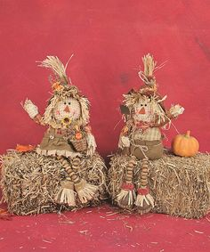 Love this Chenille Button Scarecrow - Set of Two by Hanna's Handiworks on #zulily! #zulilyfinds