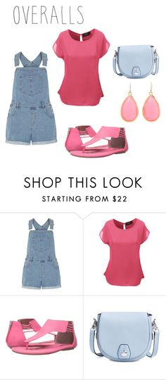 """Overalls"" by kayla86742 ❤ liked on Polyvore featuring Dorothy Perkins, LE3NO, Michael Antonio, rag & bone, Kate Spade, TrickyTrend and overalls"
