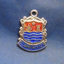 Vintage Sterling Silver & Enamel Travel Shield Charm SCARBOROUGH England