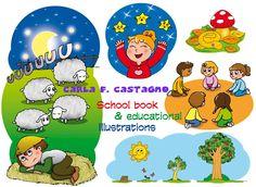 Educational book illustrations