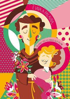 Adriana, my daughter :) Catholic Crafts, Catholic Art, Religious Art, Holy Mary, Poster S, Arte Popular, Sacred Art, Urban Art, Vintage Posters