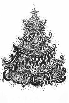 Merry Christmas Tree by artkissed, via Flickr. By artkissed aka MaryEllen Pawlak