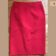 Valentino new $1400 red wool pencil skirt 00 0 Omg... Stunning Valentino 100 pct soft wool pencil skirt. Never worn. Tag says size 6 but this will fit 00-0 or xs, xxs. I'm a size 0-2 and its snug on me. Such a bargain for brand new Valentino ! Valentino Skirts Pencil