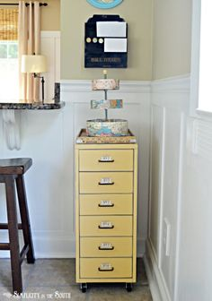 How to make over an ugly Ikea drawer unit, with Annie Sloan Chalk paint.