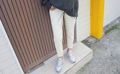 Feel comfy on a regular day with these basic cotton pants. #DailyAbout #DailyFashion #EverydayWear #AsianFashion #KoreanFashion #Pants #Style