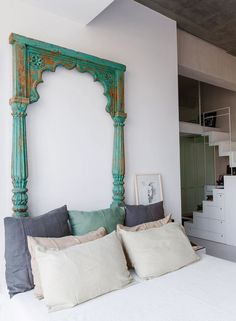 Crazy thought: large doorway frame on wall of dining area with pictures of our travels in and/or around it #IndianHomeDecor