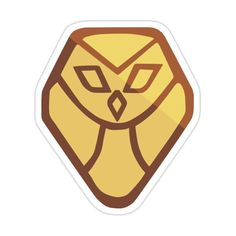Decorate laptops, Hydro Flasks, cars and more with removable kiss-cut, vinyl decal stickers. Glossy, matte, and transparent options in various sizes. Super durable and water-resistant. Logo Sticker, Sticker Design, Desenhos League Of Legends, Owl Logo, Magic Symbols, Owl House, Home Tattoo, Home Icon, House Drawing