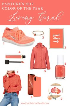 Celebrating Living Coral – Pantone's 2019 Color of the Year with fashion, beauty… Celebrating Living Coral – Pantone's 2019 Color of the Year with fashion, beauty, home decor, and other fun finds. By Bumble and Bustle. Coral Fashion, Fashion Colours, Colorful Fashion, Yoga Studio Design, Yoga Inspiration, Style Inspiration, Quoi Porter, Live Coral, Free Online Shopping