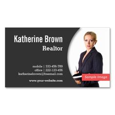 Modern, Professional, Realtor, Real Estate, Photo Business Card Template