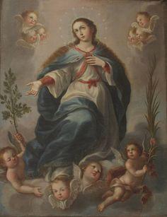 Inmaculada Concepcion, José Joaquín Magón, Sacristía de la Catedral de Puebla, Pue., via Flickr.